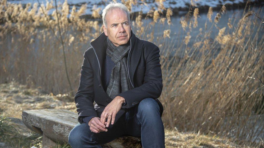 Raphaël Vuigner a choisi de poser près de son domicile, à l'étang de Grimisuat.