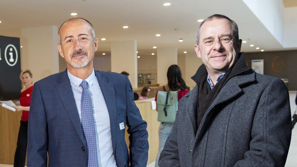 Pascal Rubin, directeur de Rennaz, et Eric Bonvin, directeur de l'Hôpital du Valais.