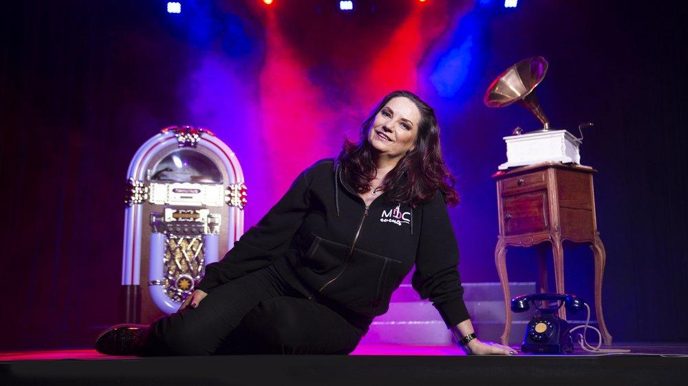 Sabine Gross sur la scène du Casino de Montreux où la première de son nouveau spectacle «Dancing Story» aura lieu vendredi.