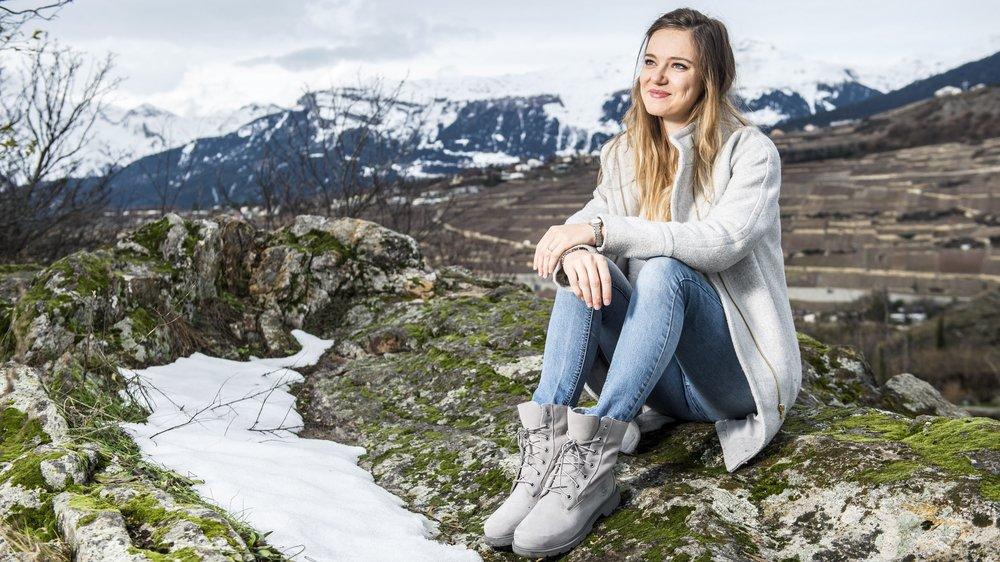 De retour en Valais pour les Fêtes, Sandrine Rudaz a retrouvé avec bonheur les paysages de son canton natal.