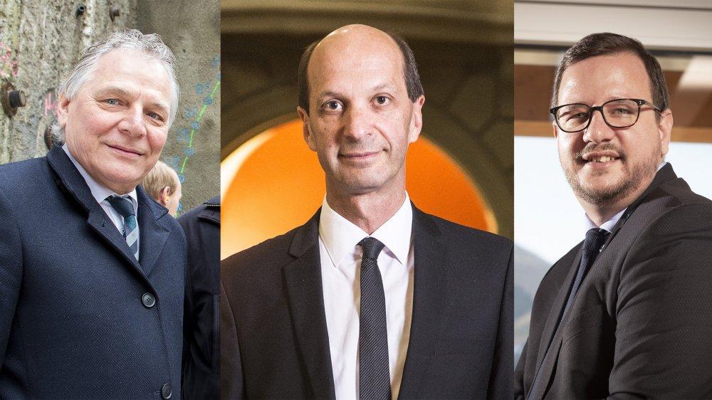 L'UDC accuse Jacques Melly, Beat Rieder et Philipp Matthias Bregy de copinage.