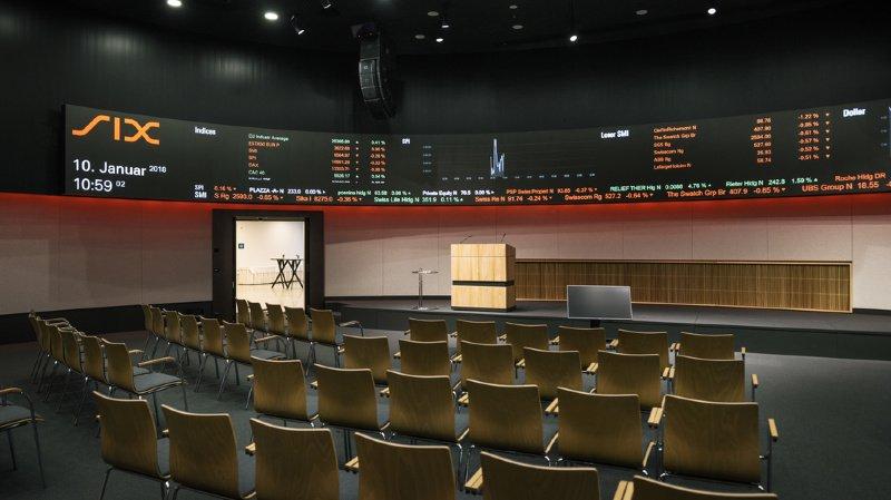 Finances: près de 1450 milliards échangés à la Bourse suisse en 2019