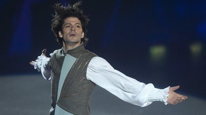Prestation de Stéphane Lambiel lors de l'événement Art on Ice en février dernier.