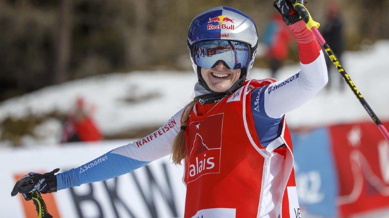 La skieuse de Villars Fanny Smith domine la finale à Val Thorens (archives).
