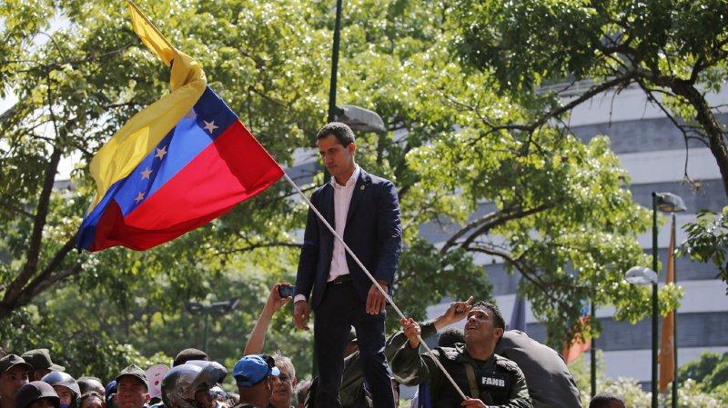 Juan Guaido n'a pas pu entrer au Parlement. (illustration)