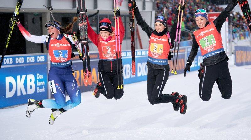 Lena Häcki et les soeurs Selina, Aita et Elisa Gasparin ont réalisé un nouvel exploit.