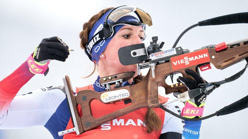 Biathlon: premier podium pour l'Obwaldienne Lena Häcki