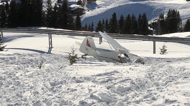 Grisons: un petit avion s'écrase à Arosa, deux blessés