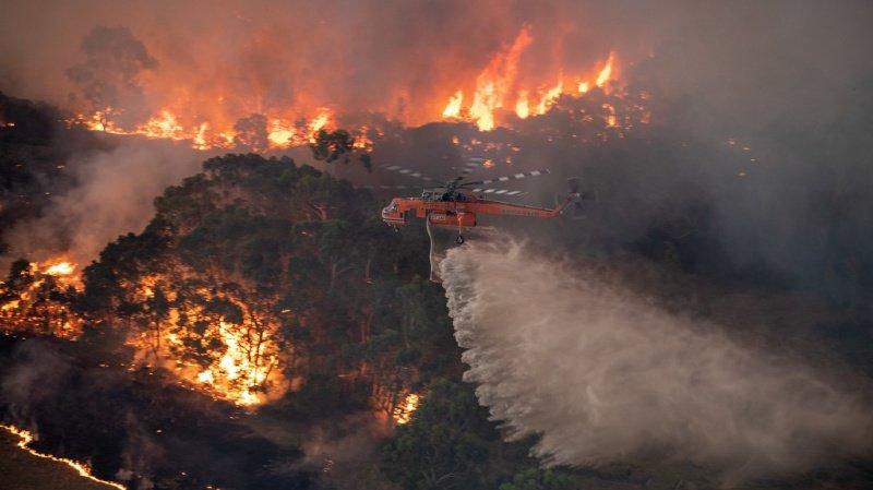 Feux en Australie: militaires déployés après un week-end catastrophique