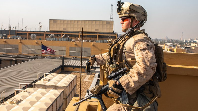 Deux obus s'abattent sur la Zone verte de Bagdad