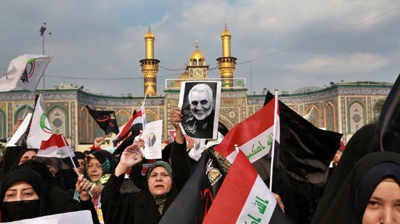 Mort du général iranien: des milliers d'Irakiens scandent «Mort à l'Amérique» aux obsèques