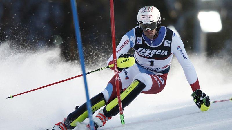 Ski alpin: Ramon Zenhäusern en tête après la première manche du slalom de Zagreb