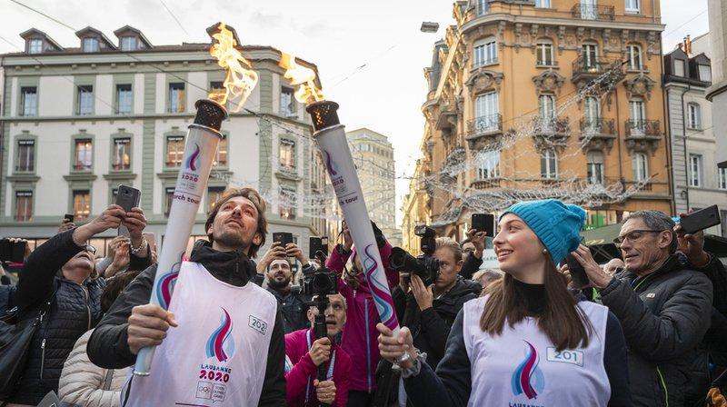 JOJ 2020: la flamme des Jeux olympiques de la Jeunesse a arpenté les rues de Lausanne