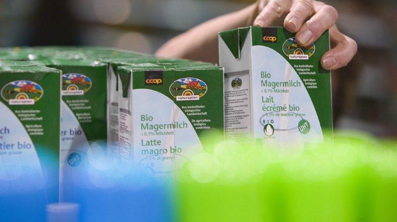 En Suisse, quelque 3300 exploitations agricoles produisent aujourd'hui plus de 245'000 tonnes de lait bio. Cela représente 7,1% de la production laitière helvétique totale (illustration).