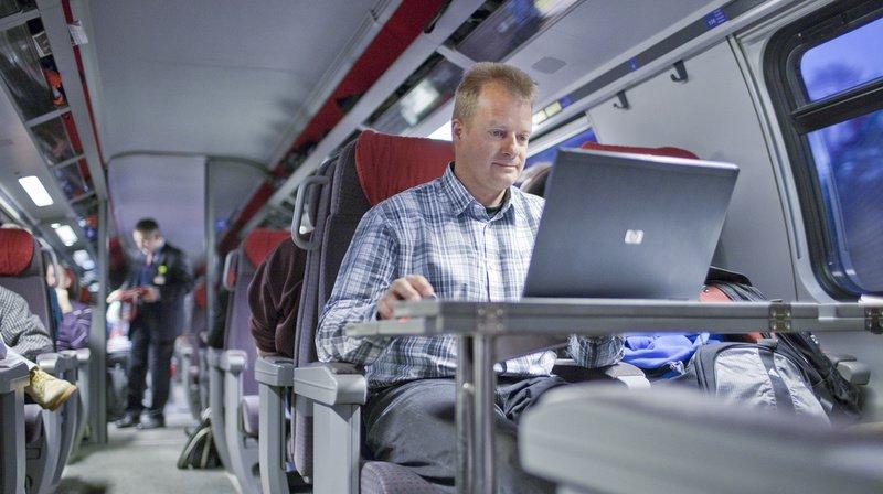Les employés de la Confédération pourront travailler dans le train dès 2020