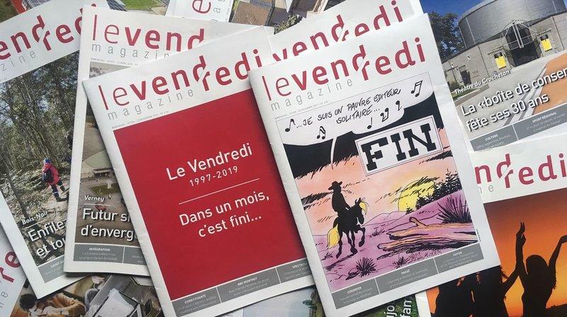 Point final au magazine montheysan «Le Vendredi»