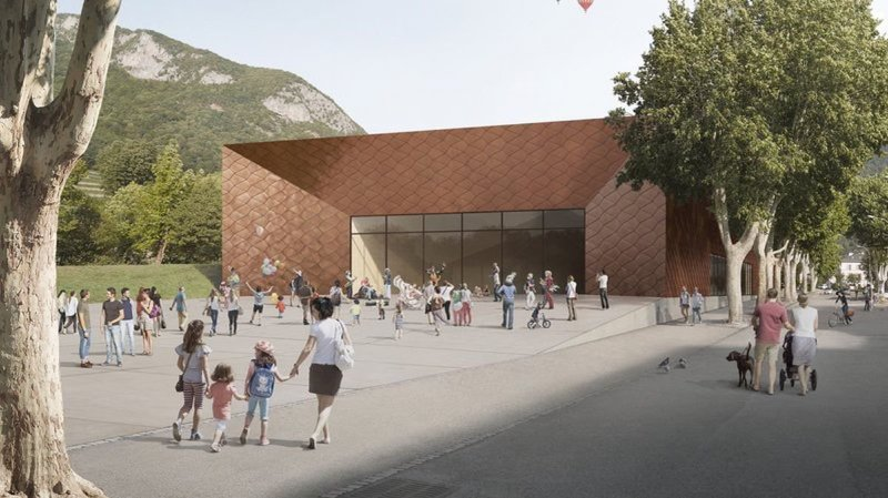 Image de synthèse du projet architectural retenu en 2016.