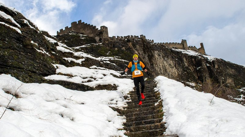 Les traileurs ont dû redoubler de vigilance sous l'œil du château de Tourbillon.