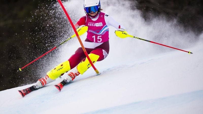 Lena Volken était en tête à l'issue de la première manche.