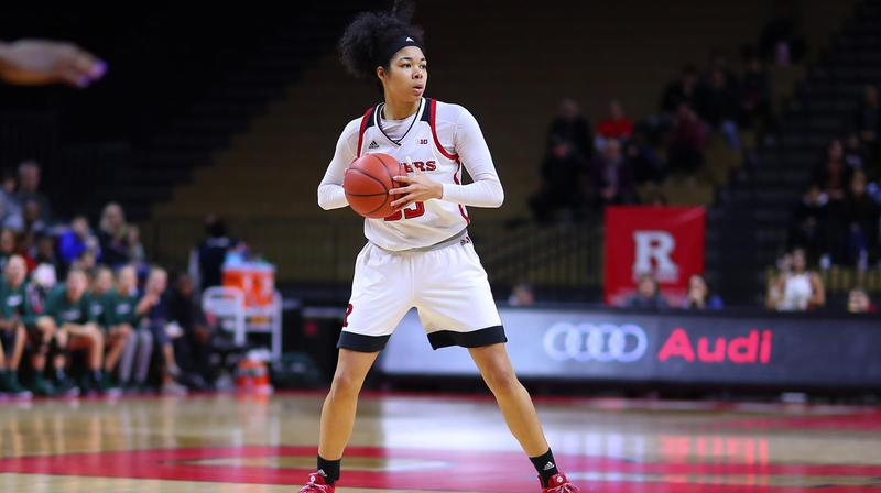 Stasha Carey, sous le maillot de l'université Rutgers.