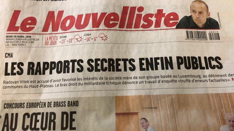 """""""Le Nouvelliste"""" a fait appel à la loi sur la transparence pour obtenir les rapports secrets sur l'augmentation du capital de CMA."""