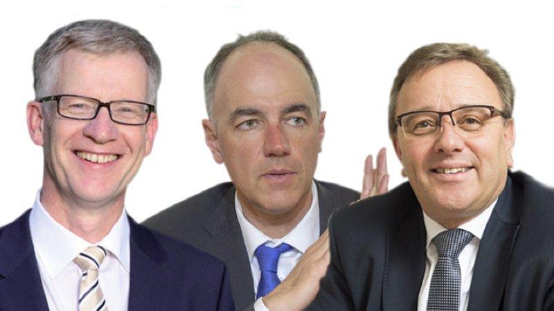 Jean-Pierre Siggen, Christophe Darbellay et Roberto Schmidt.