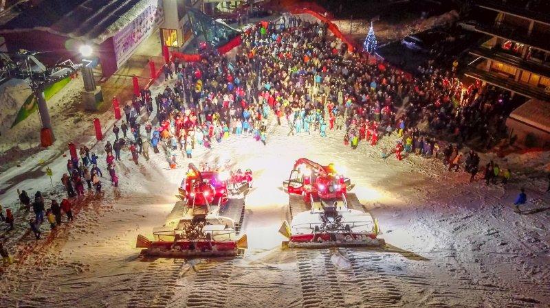 A Nendaz, le spectacle de la Saint-Sylvestre se déroule au pied de la piste de Tracouet.