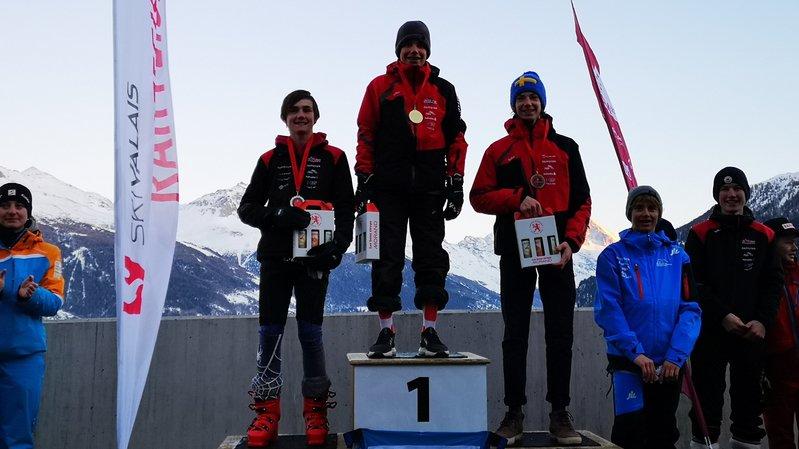 Le podium U16 garçons.