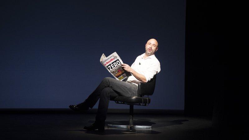 Frédéric Recrosio au Théâtre de Valère avec «Le Nouvelliste» de 2020...