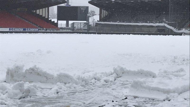 Neige: le match entre le FC Sion et Neuchâtel Xamax pas menacé