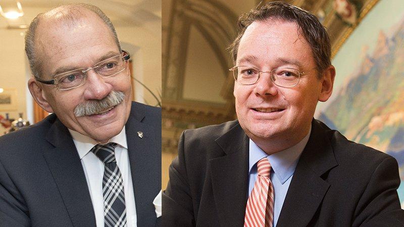Louis Ursprung aura siégé trente-deux ans au Conseil communal de Brigue. Franz Ruppen préside Naters depuis trois ans.