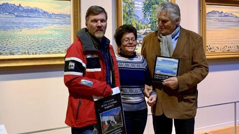Léonard Gianadda a remis des cadeaux à Simone Jaisli et à son époux Oyvind Engen.