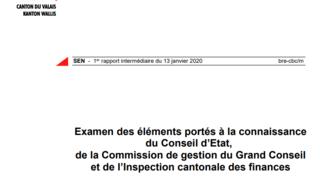 Affaire Rossier: le rapport de l'Inspection des finances n'accable pas l'Etat du Valais