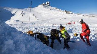 Diablerets: exercice de sauvetage pour retrouver des victimes d'avalanche