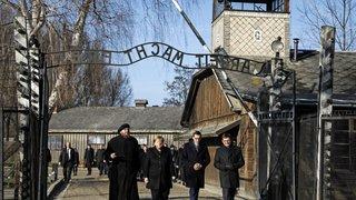 Angela Merkel en visite à Auschwitz