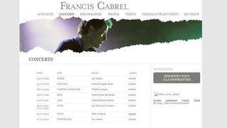 Francis Cabrel jouera à Paléo l'été prochain