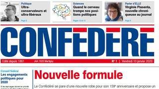 L'hebdomadaire valaisan Le Confédéré change de format et s'étoffe