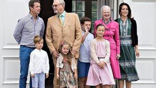 Les enfants du prince héritier danois à l'école à Verbier