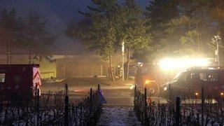 Sierre: l'ancienne Locanda ravagée pas des flammes