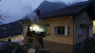 Leytron: une maison secouée par une explosion