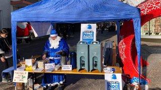 Sion: les pères Noël bleus dans la rue pour les papas divorcés