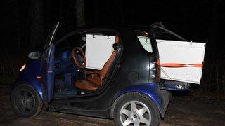 St-Gall: arrêté au volant de sa Smart, avec une armoire à habits dans le coffre