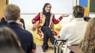 Menacée de mort en Afghanistan, elle bouscule les élèves de Sion
