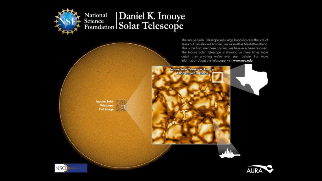 De nouvelles images bluffantes de la surface du soleil (photos et vidéo)
