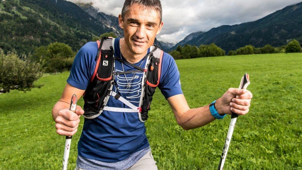 Serge Lattion avait signé un nouveau record sur le Trail du Vélan en 2019.