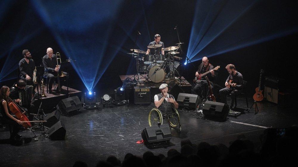 Gérald Métroz et ses musiciens ont fait vibrer les 400 personnes venues à Martigny.