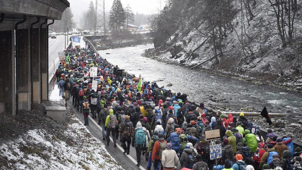 A pied jusqu'à Davos