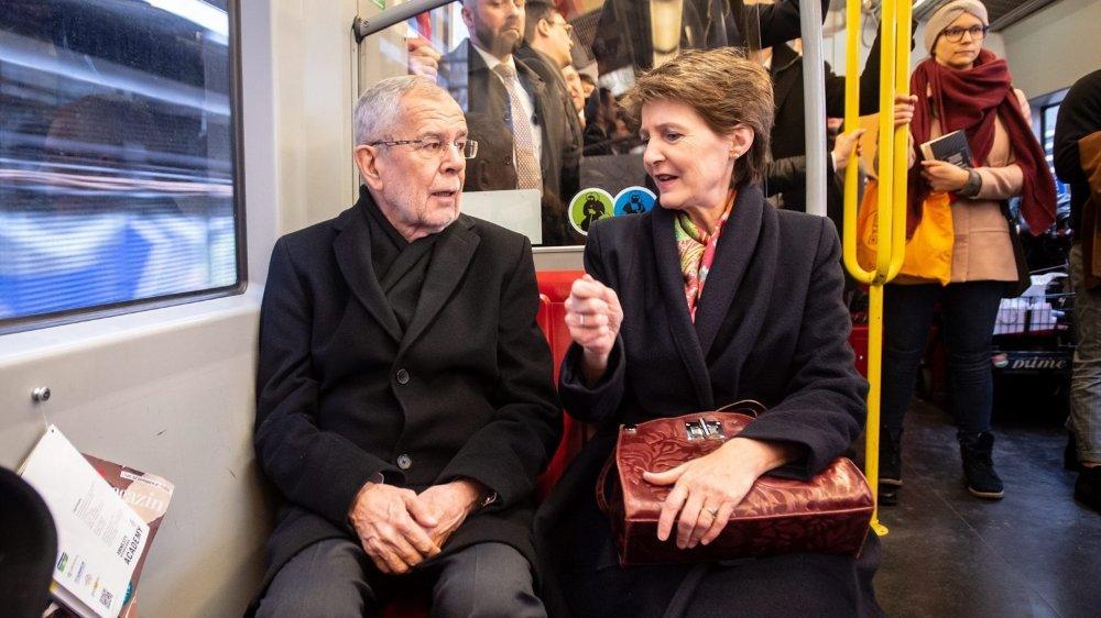 La présidente en train jusqu'à Vienne