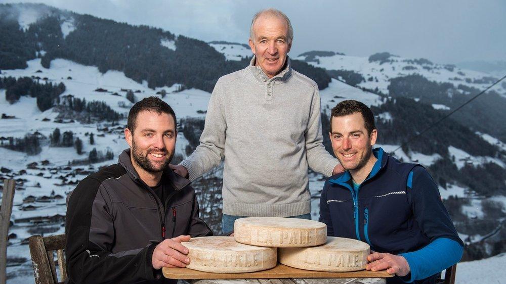 Nicolas, Serge et Julien Mariétan ont réussi à transmettre leur amour du terroir dans leurs fromages.