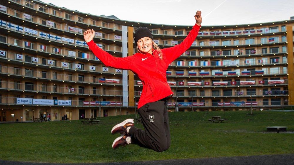 Elsa Sjöstedt découvre un univers, le village olympique notamment, qui lui était totalement inconnu.